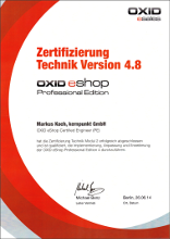 Oxid Certified Developer PE